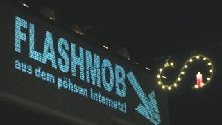 JUZ beamt Flashmob ans Gautinger Rathaus