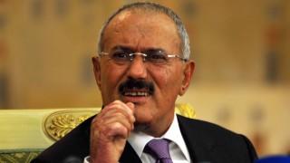 Outgoing Yemeni President Ali Abdullah Saleh