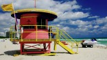 Florida Lifeguard Stands in Miami Beach