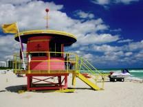 Miami South Beach Strandhäuschen Art Deco Lifeguard Stands