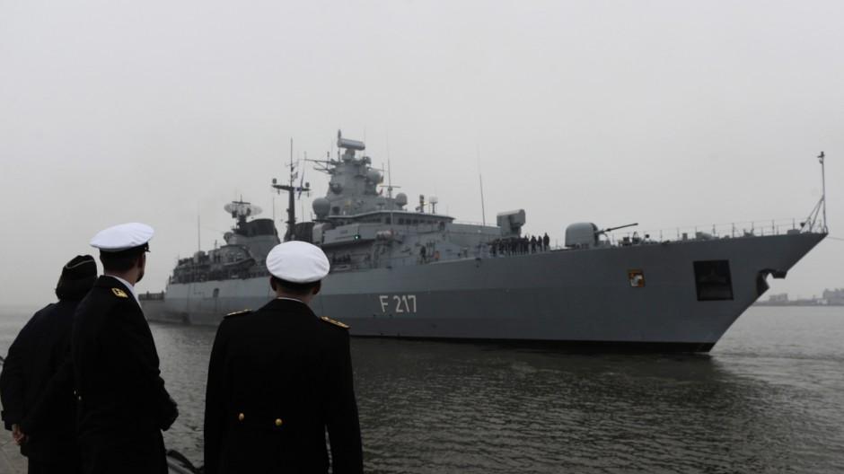 Fregatte 'Bayern' kehrt von Anti-Piraten-Einsatz zurueck