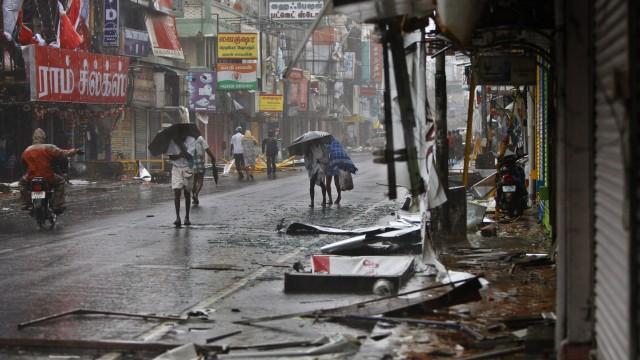 Wetter Unwetter in Indien