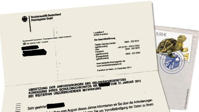 Finanzagentur des Bundes Konto-Kündigung