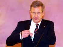 Pressekonferenz Bundespräsident Christian Wulff