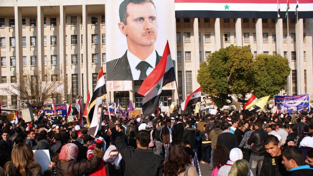 Syrians demonstrate in Damascus