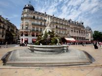 Montpellier Frankreich Brunnen
