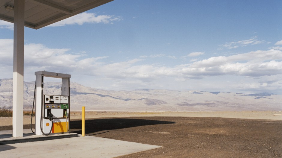 Gas station in desert, Panamint Springs, California, USA