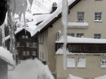 Heavy snowfall in Switzerland