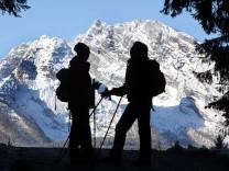 Deutschland Wanderer Wandern Berchtesgaden Kneifelspitze Watzmann