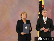 Angela Merkel, Horst Köhler, Reuters
