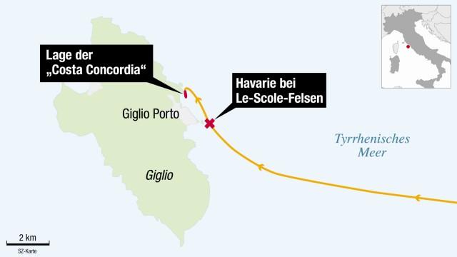Costa Concordia Schiffsunglück Giglio Italien