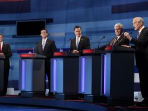 Rick Perry, Rick Santorum, Mitt Romney, Newt Gingrich, Ron Paul