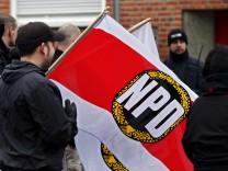 Kundgebung von NPD-Anhaengern