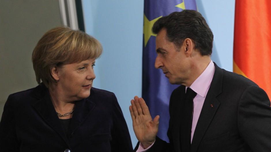 Merkel And Sarkozy Meet Over Euro