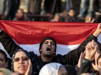Demonstrators take part in a protest against the Egyptian military council at Tahrir square in Cairo