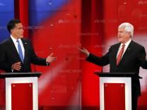 Mitt Romney Newt Gingrich Steuern