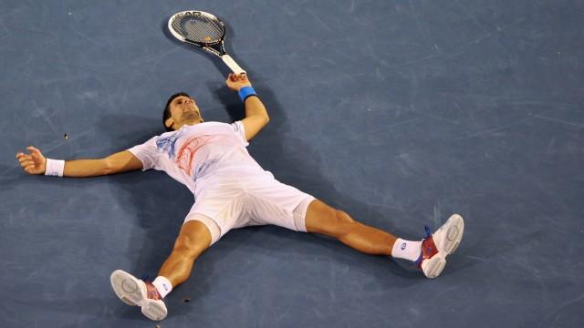 Tennis Novak Djokovic besiegt Andy Murray