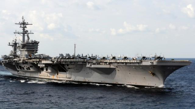 US-Flugzeugträger 'Carl Vinson' im Persischen Golf
