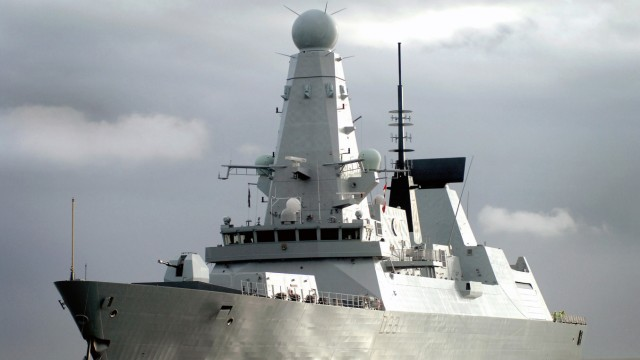 File photo of the Royal Navy Type 45 destroyer HMS Dauntless arriving in her home port of Portsmouth