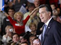 Mitt Romney feiert seinen Wahlsieg in Florida