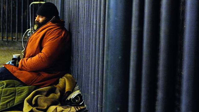 Obdachlose in der Kälte