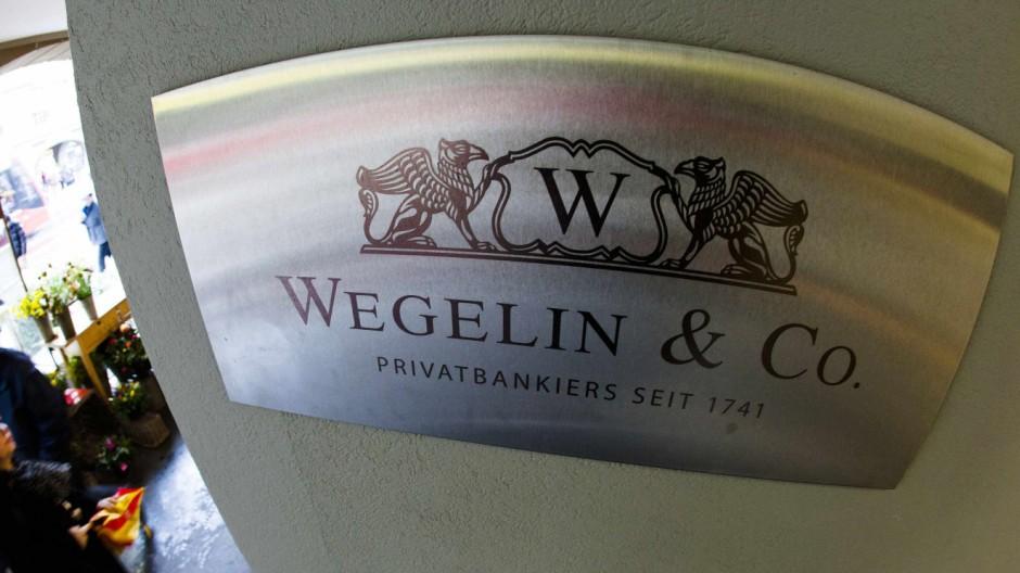 File photo of a logo of the Swiss bank Wegelin
