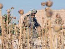 US-Armee in afghanischem Dorf in Provinz Farah