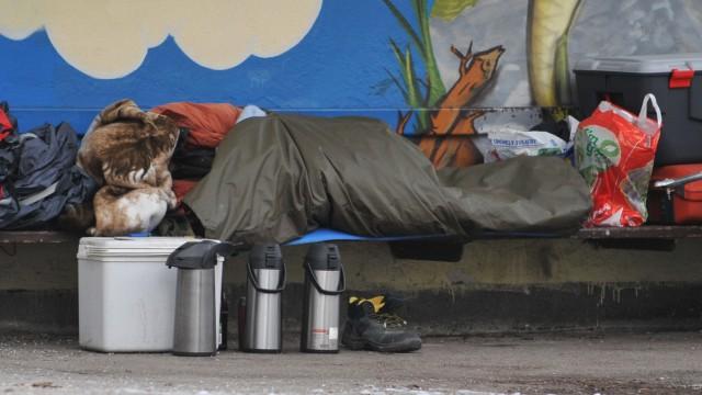 Obdachloser in München