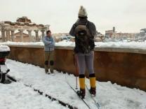 Stärksten Schneefälle in Rom seit 25 Jahren
