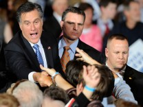 GOP Candidate For President Mitt Romney Holds Nevada Caucus Night Gathering