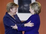 Mauerfall Jahrestag Bilder Angela Merkel Hillary Clinton, rtr