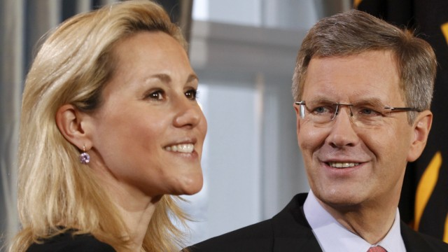 Präsident und First Lady: Christian Wulff mit Gattin Bettina.