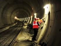 Arbeiter im City-Tunnel Leipzig