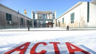 Aktion der Grünen zum ACTA-Abkommen