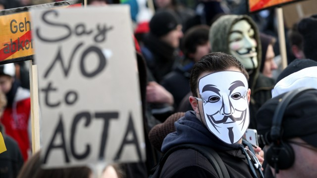 Demonstration 'Gemeinsam koennen wir ACTA stoppen!'