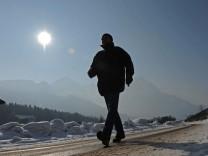 Sonnenschein in Garmisch Winter Schnee  Wetter