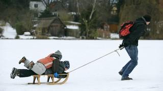Eisvergnügen auf der Wakenitz