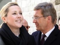 Bundespräsident: Christian Wulff Ehefrau Bettina Staatsbesuchs in Italien