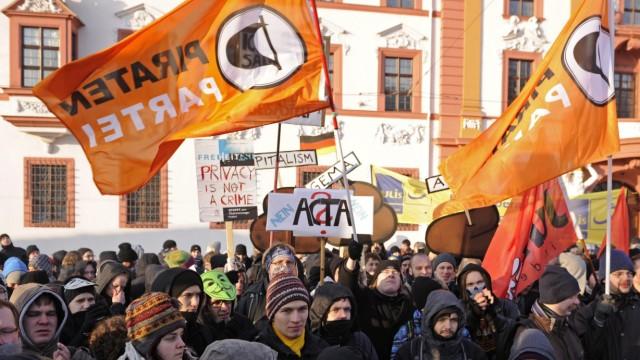 Demonstration gegen ACTA-Abkommen