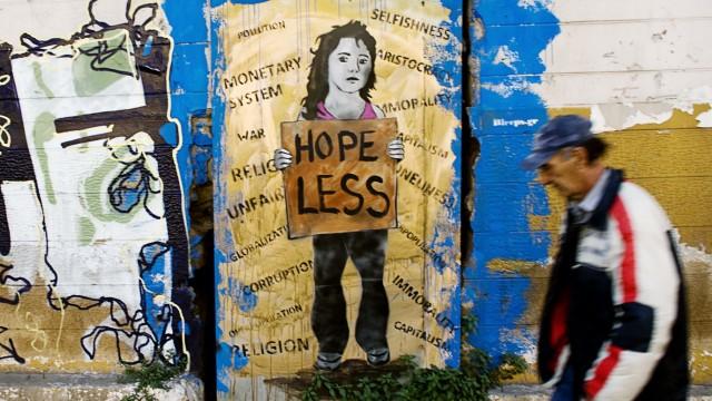 Anti-Government Grafitti Adorns Athens