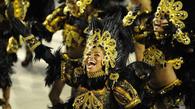 Karneval in Rio Tänzerinnen Unidos da Tijuca
