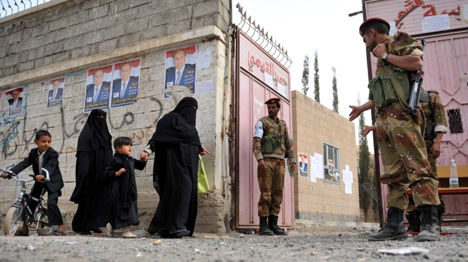 The early presidential election in Yemen