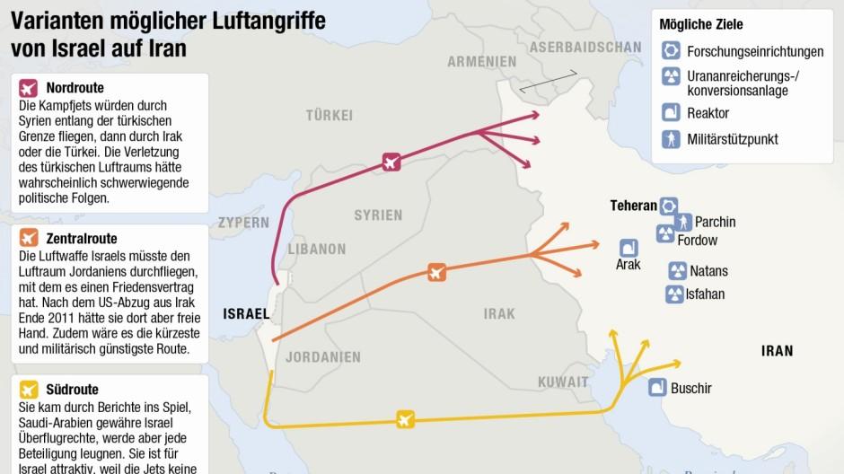Grafik Iran Israel