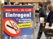 Volksbegehren Nichtraucherschutz, ddp