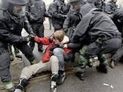 Dresden, Sitzblockaden gegen Neonazis, Getty