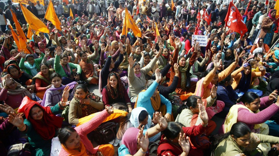 All India General Strike in the northern Indian city of Jammu