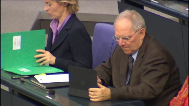 Bundestag berät über Finanzhilfen für Griechenland