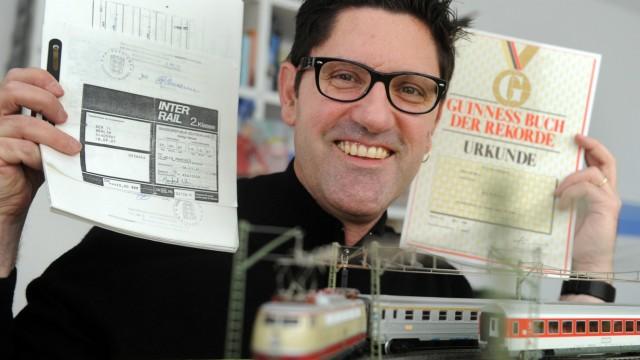 40 Jahre Interrail: Manfred Weis mit seinem Interrail-Rekord