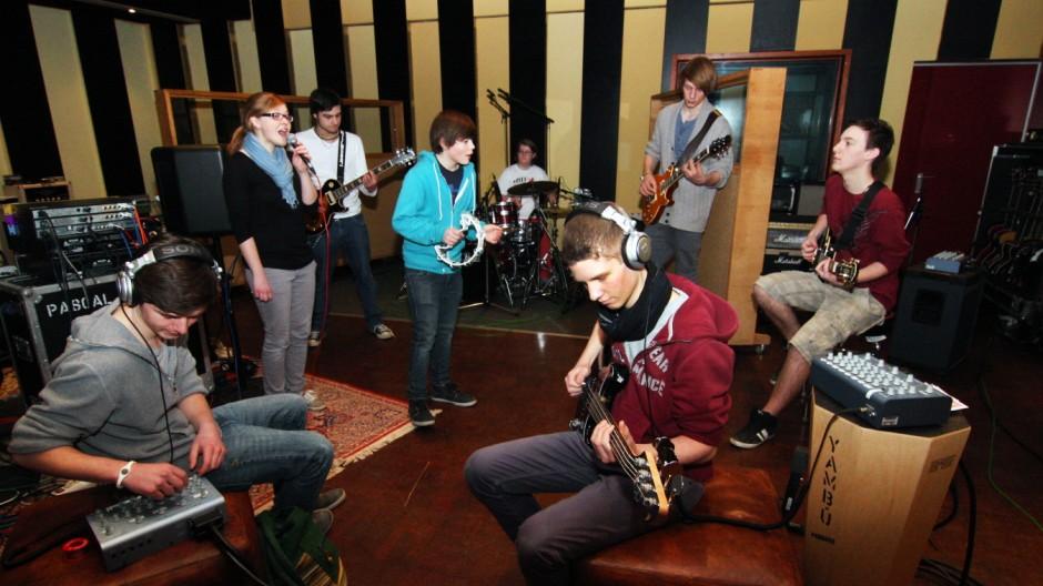 Tutzinger Schülerband in Maffay's Tonstudio