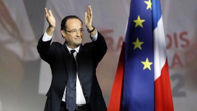 Tritt gegen Amtsinhaber Nicolas Sarkozy an: Sozialist Francois Hollande